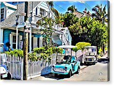 Harbour Island House Acrylic Print by Anthony C Chen