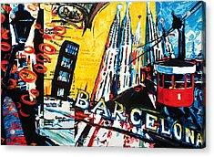 Barcelona Acrylic Print by Gerald Herrmann