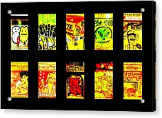Barcelona Store Fronts Acrylic Print by Funkpix Photo Hunter