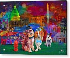Bark Ball Acrylic Print by Karen Derrico
