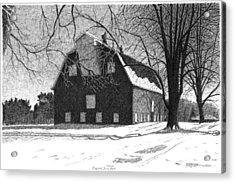 Barn 24 Maplenol Barn Acrylic Print by Joel Lueck