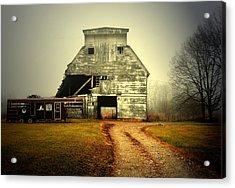 Barn And Horse Trailer Acrylic Print by Mark Orr