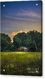 Barn And Palmetto Acrylic Print by Marvin Spates