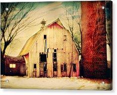 Barn And Silo Acrylic Print by Julie Hamilton