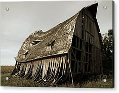 Barn On The Move Acrylic Print by Gary Gunderson
