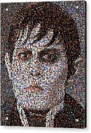Barnabas Collins Johnny Depp Mosaic Acrylic Print by Paul Van Scott