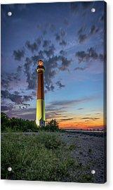 Barnegat Lighthouse At Dusk Acrylic Print by Rick Berk