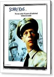 Barney Poster Acrylic Print by Joan  Minchak