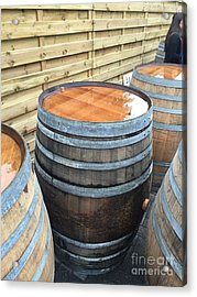 Barrels In Belgium Acrylic Print by Evan N