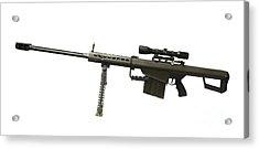 Barrett L82a1 Anti-materiel Rifle Acrylic Print by Andrew Chittock