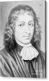 Baruch Spinoza, Jewish-dutch Philosopher Acrylic Print by Photo Researchers