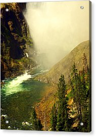 Base Of The Falls 2 Acrylic Print by Marty Koch