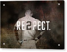 Baseball - Derek Jeter Acrylic Print by Joann Vitali
