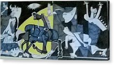 based on Picasso Art  Guernica Acrylic Print by Miss Ratul Banerjee