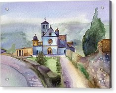 Basilica Of St Francis  Assisi Acrylic Print by Lydia Irving