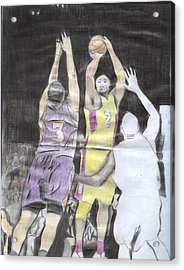 Basket Ball Acrylic Print by Daniel Kabugu