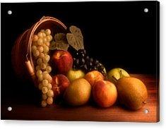 Basket Of Fruit Acrylic Print by Tom Mc Nemar
