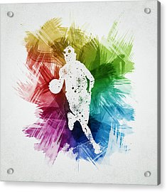 Basketball Player Art 02 Acrylic Print by Aged Pixel