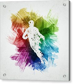 Basketball Player Art 08 Acrylic Print by Aged Pixel