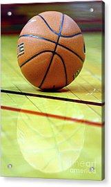 Basketball Reflections Acrylic Print by Alan Look