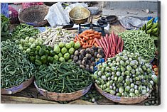 Baskets Of Produce Acrylic Print by Tim Gainey