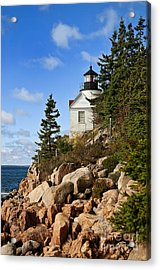 Bass Harbor Light Acrylic Print by John Greim