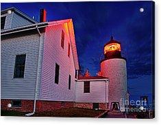 Bass Harbor Lighthouse Maine Acrylic Print by John Greim
