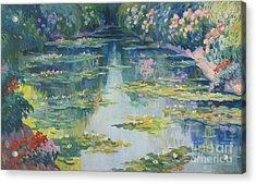 Bassin Aux Nympheas Acrylic Print by Robert Antoine