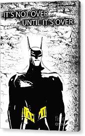 Bat  - Beware The Batman Acrylic Print by Prar Kulasekara
