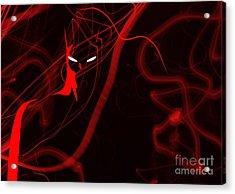 Bat Red - Beware The Batman Acrylic Print by Prar Kulasekara