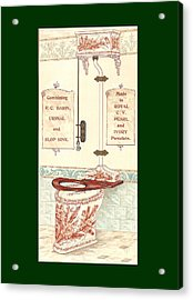 Bathroom Picture Five Acrylic Print by Eric Kempson