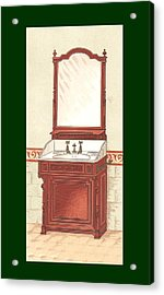 Bathroom Picture Wash Stand One Acrylic Print by Eric Kempson