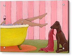 Bathtime Acrylic Print by Christy Beckwith