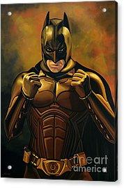 Batman The Dark Knight  Acrylic Print by Paul Meijering