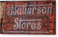 Batterson Stores Acrylic Print by Jame Hayes