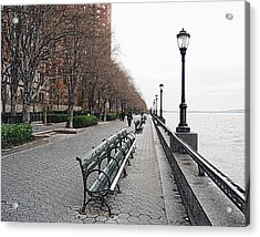 Battery Park Acrylic Print by Michael Peychich