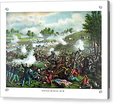 Battle Of Bull Run Acrylic Print by War Is Hell Store