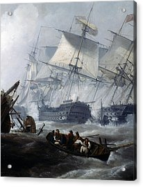 Battle Of Camperdown Acrylic Print by George the elder Chambers
