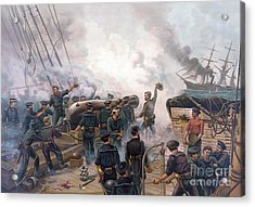 Battle Of Cherbourg Acrylic Print by Julian Oliver Davidson