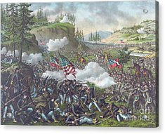 Battle Of Chickamauga Acrylic Print by American School
