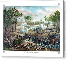 Battle Of Cold Harbor Acrylic Print by War Is Hell Store