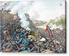 Battle Of Franklin Acrylic Print by American School
