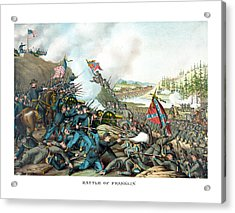 Battle Of Franklin - Civil War Acrylic Print by War Is Hell Store