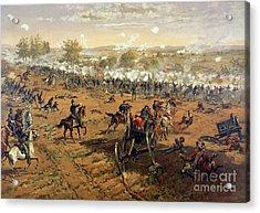 Battle Of Gettysburg Acrylic Print by Thure de Thulstrup