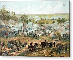 Battle Of Gettysburg Acrylic Print by War Is Hell Store