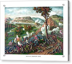 Battle Of Missionary Ridge Acrylic Print by War Is Hell Store