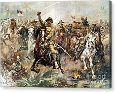 Battle Of San Juan Hill, 1898 Acrylic Print by Science Source