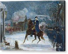 Battle Of Trenton, 1776 Acrylic Print by Granger
