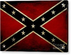 Battle Scarred Confederate Flag Acrylic Print by Randy Steele