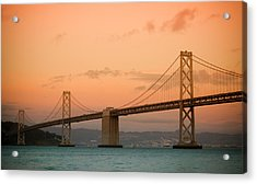 Bay Bridge Acrylic Print by Mandy Wiltse